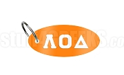 Lambda Omicron Delta Key Chain with Greek Letters, Orange