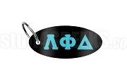 Lambda Phi Delta Key Chain with Greek Letters, Black