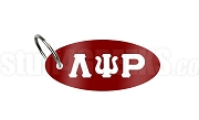 Lambda Psi Rho Key Chain with Greek Letters, Crimson