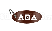 Lambda Theta Delta Key Chain with Greek Letters, Brown