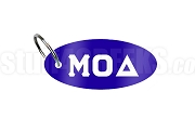 Mu Omicron Delta Key Chain with Greek Letters, Royal Blue