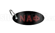 Nu Alpha Phi Key Chain with Greek Letters, Black