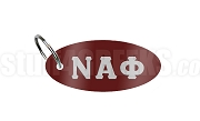 Nu Gamma Alpha Key Chain with Greek Letters, Maroon