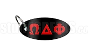 Omega Delta Phi Key Chain with Greek Letters, Black