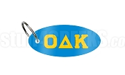 Omicron Delta Kappa Key Chain with Greek Letters, Light Blue