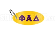 Phi Alpha Delta Key Chain with Greek Letters, Gold