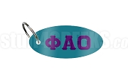 Phi Alpha Omicron Key Chain with Greek Letters, Teal