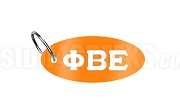 Phi Beta Epsilon Key Chain with Greek Letters, Orange