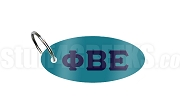 Phi Beta Epsilon Key Chain with Greek Letters, Teal