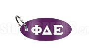 Phi Delta Epsilon Key Chain with Greek Letters, Purple