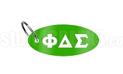 Phi Delta Sigma Key Chain with Greek Letters, Kelly Green