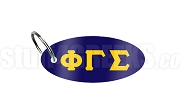 Phi Gamma Sigma Key Chain with Greek Letters, Navy Blue