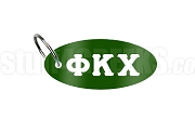 Phi Kappa Chi Key Chain with Greek Letters, Forest Green