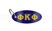 Phi Kappa Phi Key Chain with Greek Letters, Navy Blue