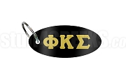 Phi Kappa Sigma Key Chain with Greek Letters, Black