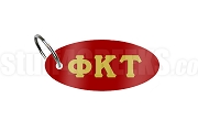 Phi Kappa Tau Key Chain with Greek Letters, Red