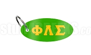 Phi Lambda Sigma Key Chain with Greek Letters, Kelly Green