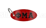 Phi Mu Alpha Key Chain with Greek Letters, Red