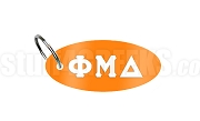 Phi Mu Delta Key Chain with Greek Letters, Orange