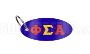 Phi Sigma Alpha Key Chain with Greek Letters, Royal Blue