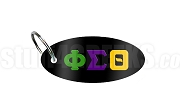Phi Sigma Theta Key Chain with Greek Letters, Black