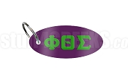 Phi Theta Sigma Key Chain with Greek Letters, Purple