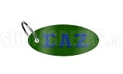 Sigma Alpha Zeta Key Chain with Greek Letters, Forest Green