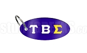 Tau Beta Sigma Oval Sublimated Key Chain with Greek Letters, Royal Blue