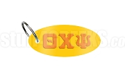 Theta Chi Psi Key Chain with Greek Letters, Gold