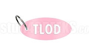 Top Ladies Of Distinction Key Chain with Organization Letters, Light Pink