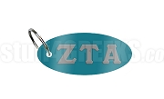 Zeta Tau Alpha Key Chain with Greek Letters, Turquoise