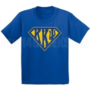 Kappa Kappa Psi Screen Printed T-Shirt with Greek Letters Inside Superman Shield, Royal Blue