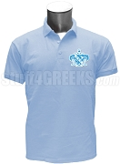 Lambda Sigma Upsilon Crest Polo Shirt, Light Blue