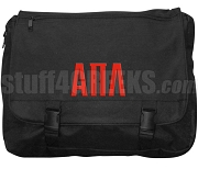 Alpha Pi Lambda Laptop Bag with Greek Letters, Black