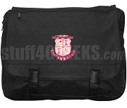 Chi Beta Delta Laptop Bag with Crest, Black