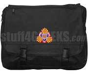 Gamma Kappa Phi Laptop Bag with Crest, Black