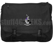 Gamma Xi Phi Laptop Bag with Crest, Black