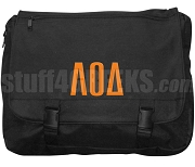 Lambda Omicron Delta Laptop Bag with Greek Letters, Black