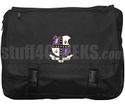 Mu Phi Epsilon Laptop Bag with Crest, Black