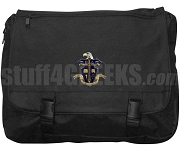 Omega Delta Laptop Bag with Crest, Black