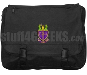 Phi Alpha Delta Laptop Bag with Crest, Black