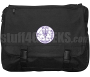 Phi Delta Epsilon Laptop Bag with Crest, Black