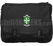Phi Eta Chi Laptop Bag with Crest, Black
