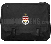 Phi Gamma Nu Laptop Bag with Crest, Black