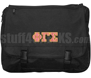 Phi Gamma Sigma Laptop Bag with Greek Letters, Black
