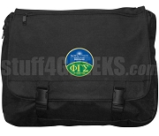 Phi Gamma Sigma Laptop Bag with Crest, Black