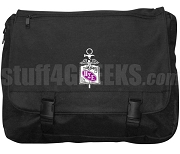 Pi Sigma Epsilon Laptop Bag with Crest, Black