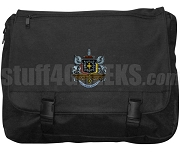 Psi Upsilon Laptop Bag with Crest, Black