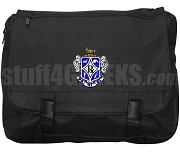Rho Pi Phi Laptop Bag with Crest, Black