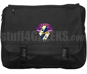 Sigma Alpha Epsilon Pi Laptop Bag with Crest, Black